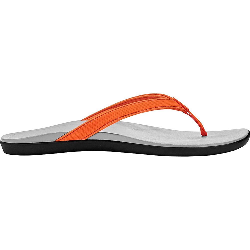 OluKai Womens HoOpio Sandal 5 - Papaya/Pale Grey - OluKai Womens Footwear - Apparel & Footwear, Women's Footwear