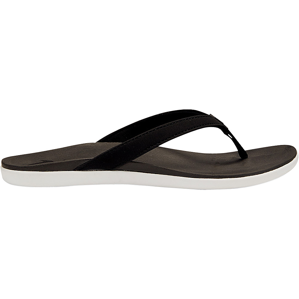 OluKai Womens HoOpio Sandal 6 - Black/Black - OluKai Womens Footwear - Apparel & Footwear, Women's Footwear