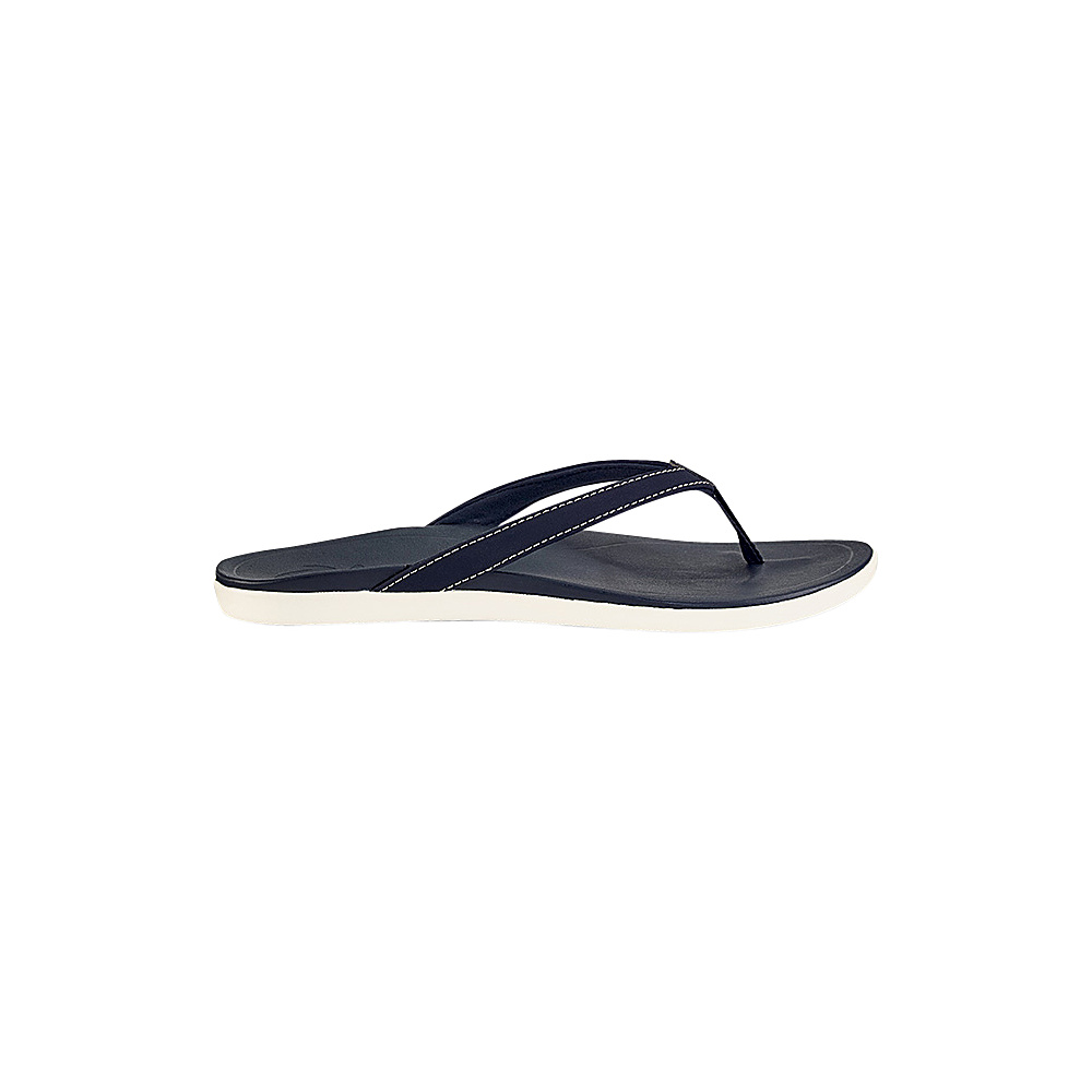 OluKai Womens HoOpio Sandal 10 - Trench Blue/Trench Blue - OluKai Womens Footwear - Apparel & Footwear, Women's Footwear