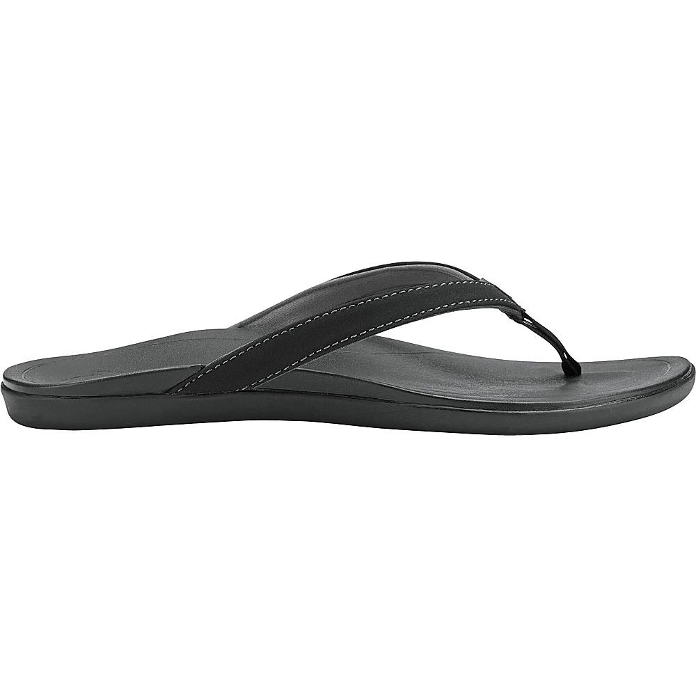 OluKai Womens HoOpio Sandal 6 - Onyx/Onyx - OluKai Womens Footwear - Apparel & Footwear, Women's Footwear