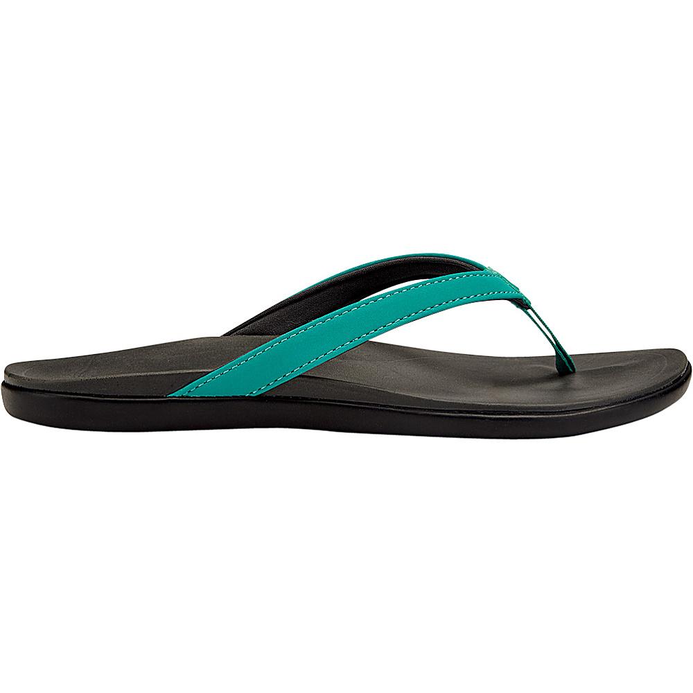 OluKai Womens HoOpio Sandal 8 - Mermaid/Dark Shadow - OluKai Womens Footwear - Apparel & Footwear, Women's Footwear
