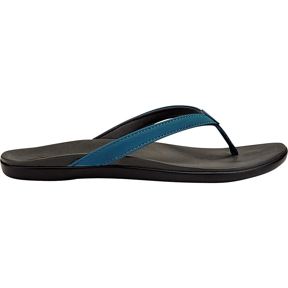 OluKai Womens HoOpio Sandal 9 - Oceans/Dark Dhadow - OluKai Womens Footwear - Apparel & Footwear, Women's Footwear