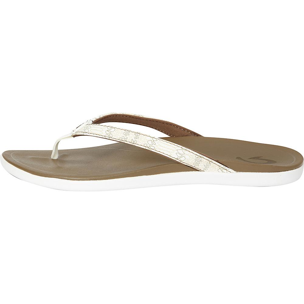 OluKai Womens HoOpio Sandal 10 - White Honu/Mustang - OluKai Womens Footwear - Apparel & Footwear, Women's Footwear