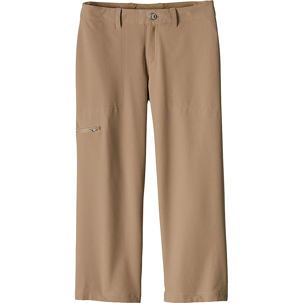 Patagonia Womens Happy Hike Cropped Pants 10 - 22in - Mojave Khaki - Patagonia Womens Apparel - Apparel & Footwear, Women's Apparel
