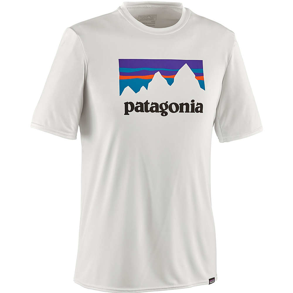 Patagonia Mens Capilene Daily Graphic T-Shirt S - Shop Sticker: White - Patagonia Mens Apparel - Apparel & Footwear, Men's Apparel