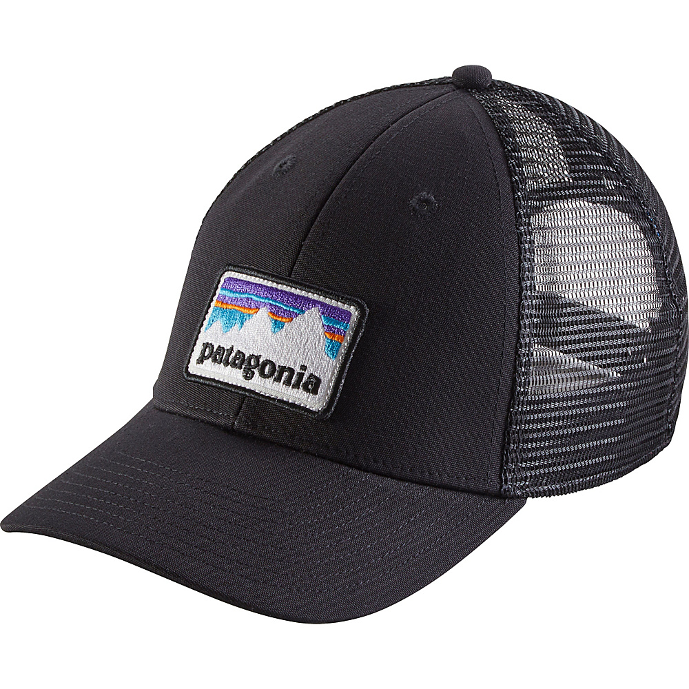 Patagonia Shop Sticker Patch LoPro Trucker Hat One Size - Black - Patagonia Hats/Gloves/Scarves - Fashion Accessories, Hats/Gloves/Scarves