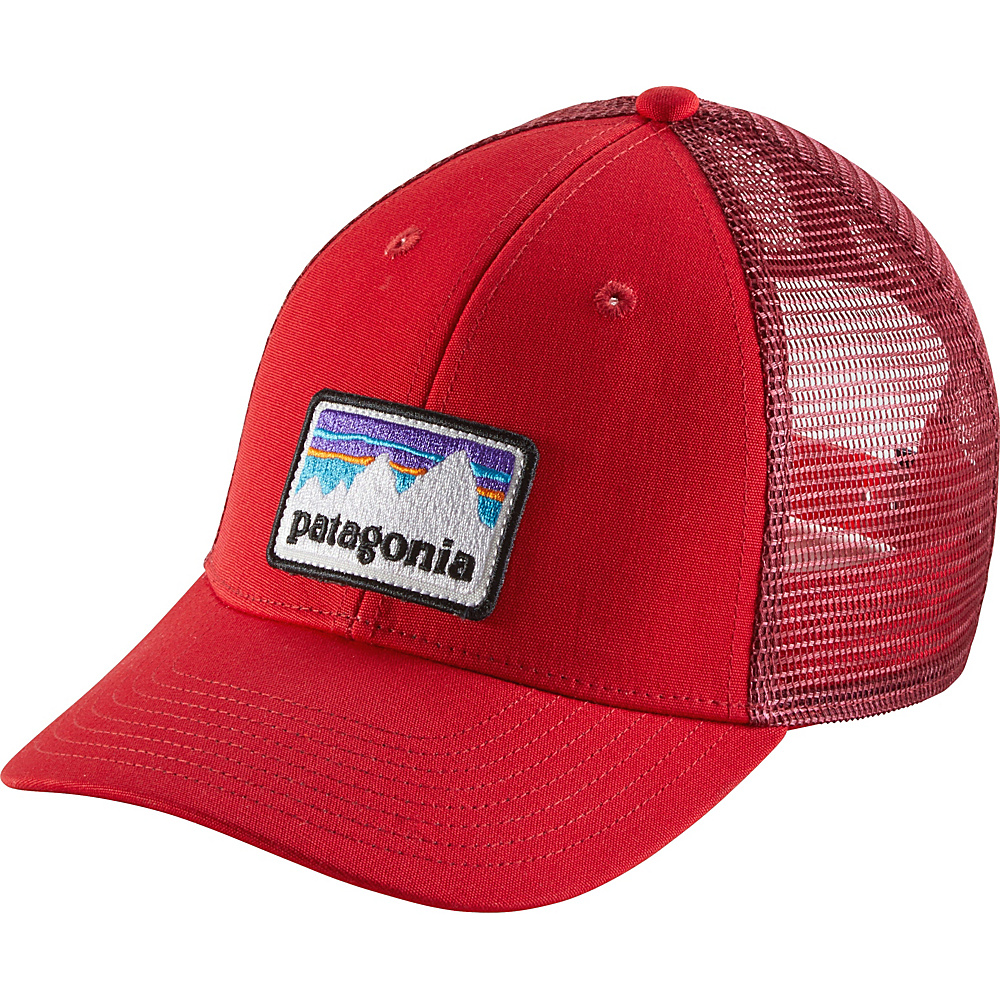 Patagonia Shop Sticker Patch LoPro Trucker Hat One Size - Fire - Patagonia Hats/Gloves/Scarves - Fashion Accessories, Hats/Gloves/Scarves