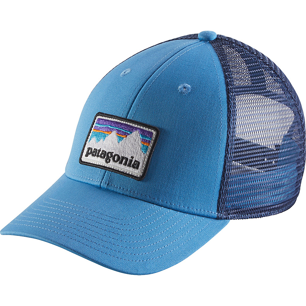 Patagonia Shop Sticker Patch LoPro Trucker Hat One Size - Radar Blue - Patagonia Hats/Gloves/Scarves - Fashion Accessories, Hats/Gloves/Scarves