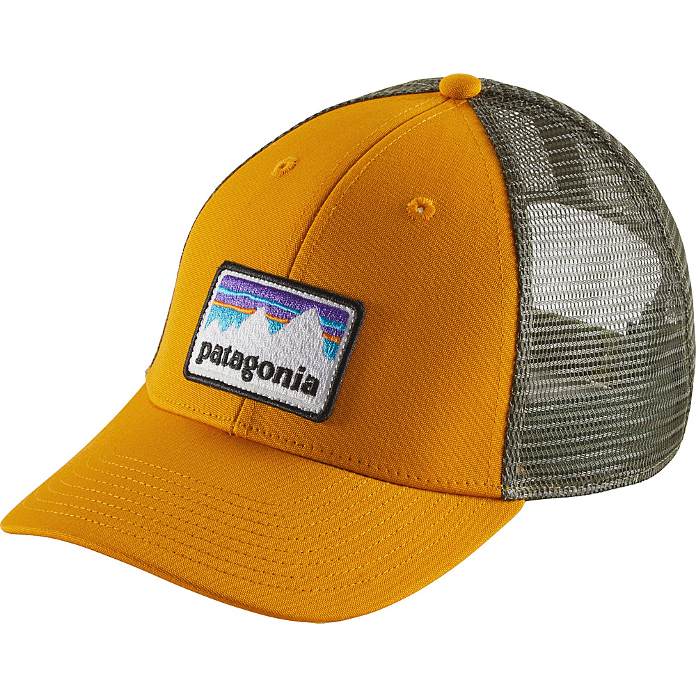 Patagonia Shop Sticker Patch LoPro Trucker Hat One Size - Ysidro Yellow - Patagonia Hats/Gloves/Scarves - Fashion Accessories, Hats/Gloves/Scarves