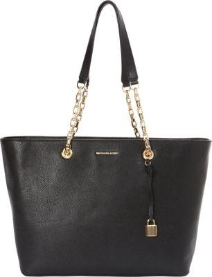MICHAEL Michael Kors Mercer Chain Medium Top Zip Multifunctional Tote Black - MICHAEL Michael Kors Designer Handbags