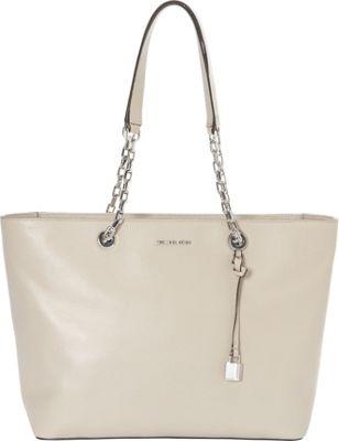 MICHAEL Michael Kors Mercer Chain Medium Top Zip Multifunctional Tote Cement - MICHAEL Michael Kors Designer Handbags