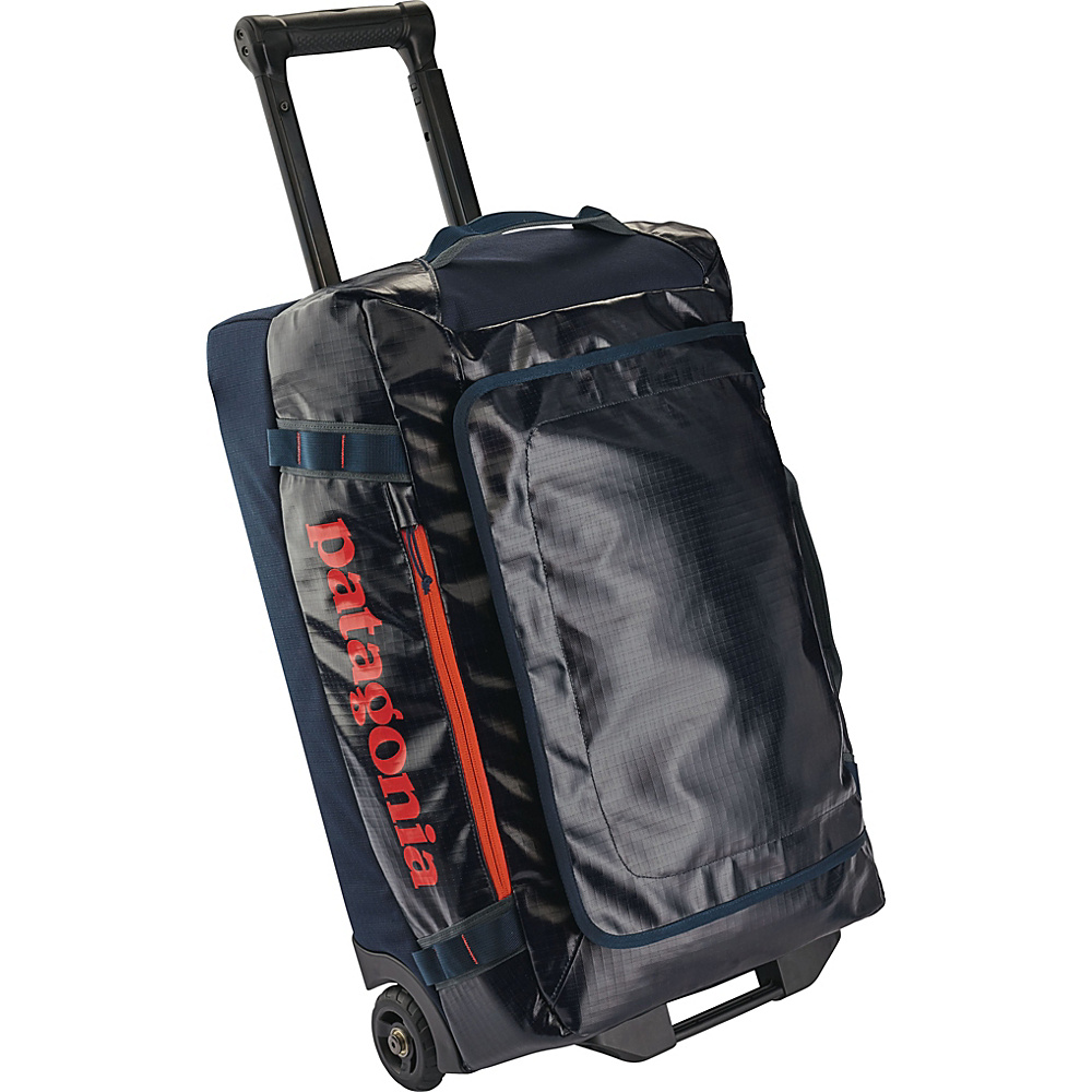 Patagonia Black Hole Wheeled Duffel 40L Navy Blue w/Paintbrush Red - Patagonia Softside Carry-On - Luggage, Softside Carry-On