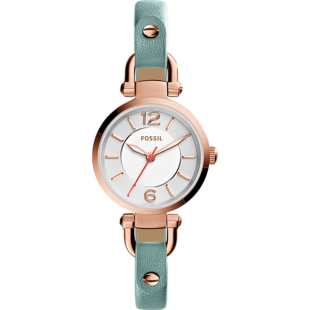 Fossil Georgia Chronograph Leather Watch Green - Fossil Watches - Fashion Accessories, Watches