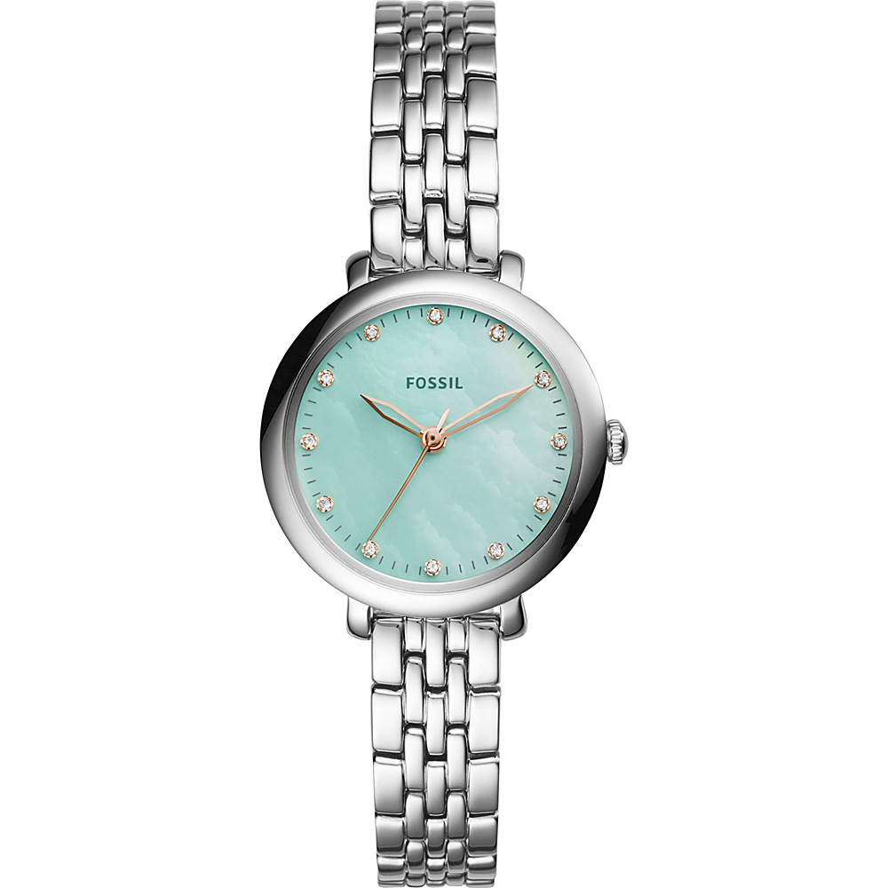Fossil Jacqueline 3-Hand Stainless Steel Watch Silver - Fossil Watches - Fashion Accessories, Watches