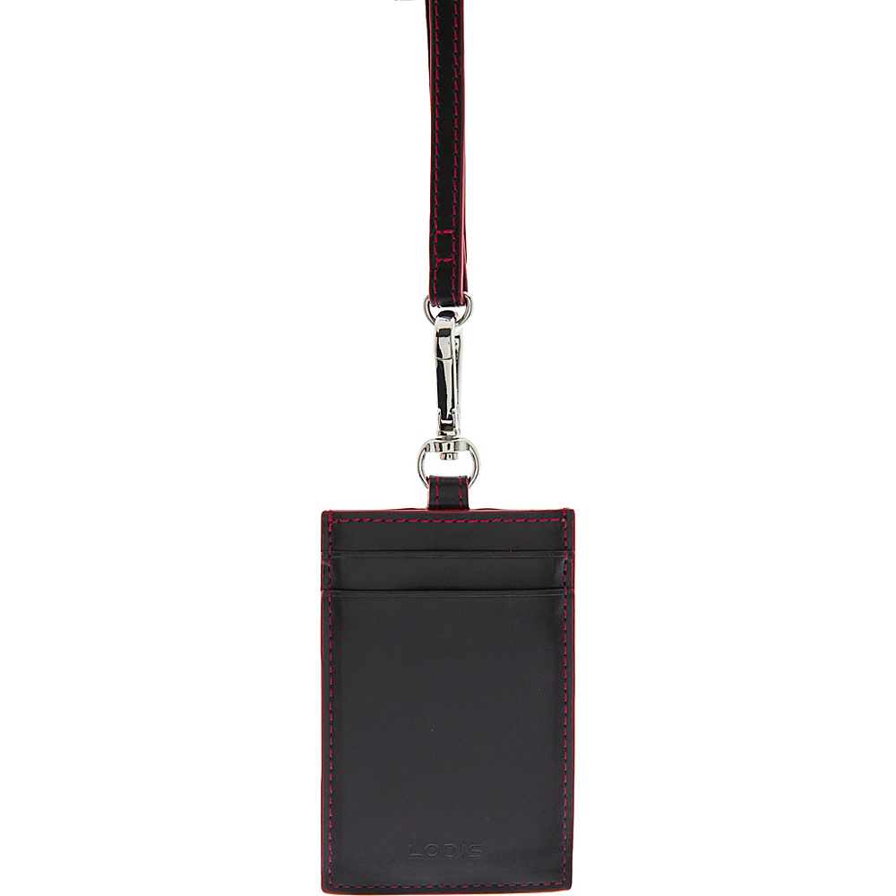 Lodis Audrey Echo Card Case w/ Lanyard Black - Lodis Womens SLG Other - Women's SLG, Women's SLG Other