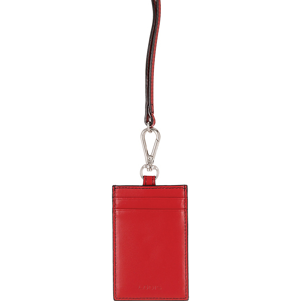 Lodis Audrey Echo Card Case w/ Lanyard Red - Lodis Womens SLG Other - Women's SLG, Women's SLG Other