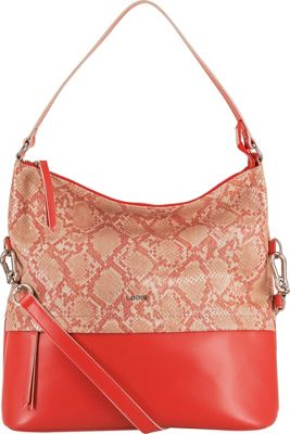 Lodis Kate Exotic Sunny Hobo Pink/Cream - Lodis Leather Handbags