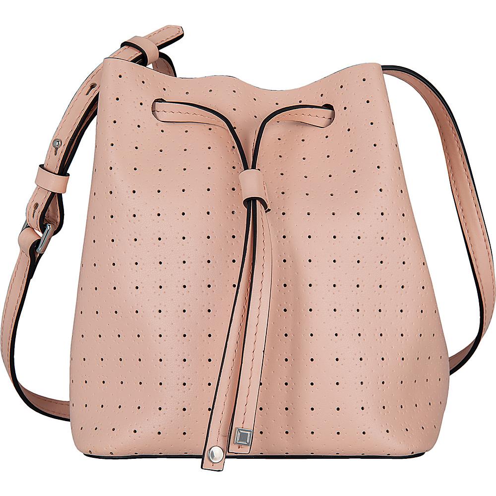 Lodis Blair Perf Blake Small Drawstring Blush/ Taupe - Lodis Leather Handbags - Handbags, Leather Handbags