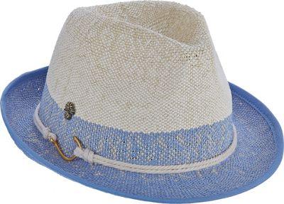Tommy Bahama Headwear Bangkok Fedora One Size - Blue - One Size - Tommy Bahama Headwear Hats