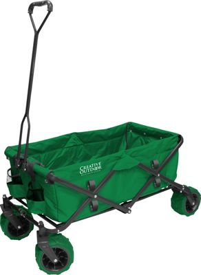 Creative Outdoor Creative Outdoor Folding Garden Wagon Cart Green - Creative Outdoor Outdoor Accessories