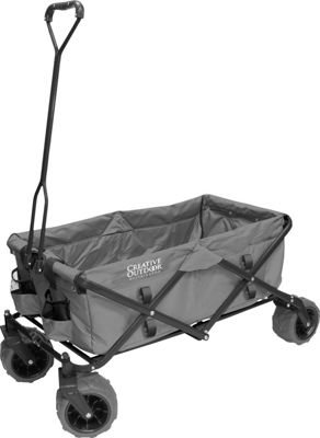 Creative Outdoor Creative Outdoor Folding Garden Wagon Cart Grey - Creative Outdoor Outdoor Accessories
