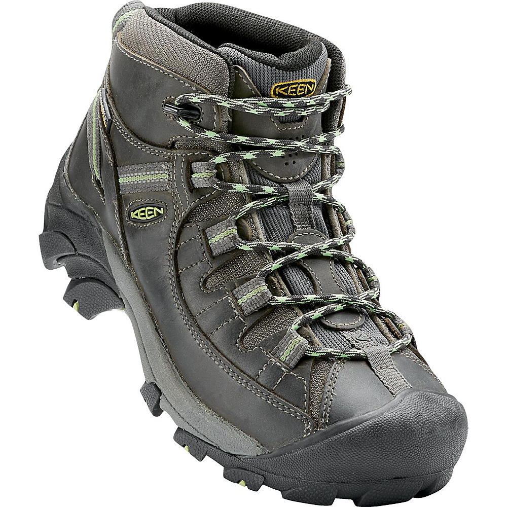 KEEN Womens Targhee II Mid Waterproof Hiking Boot 7.5 - M (Regular/Medium) - Raven/Opaline - KEEN Womens Footwear - Apparel & Footwear, Women's Footwear