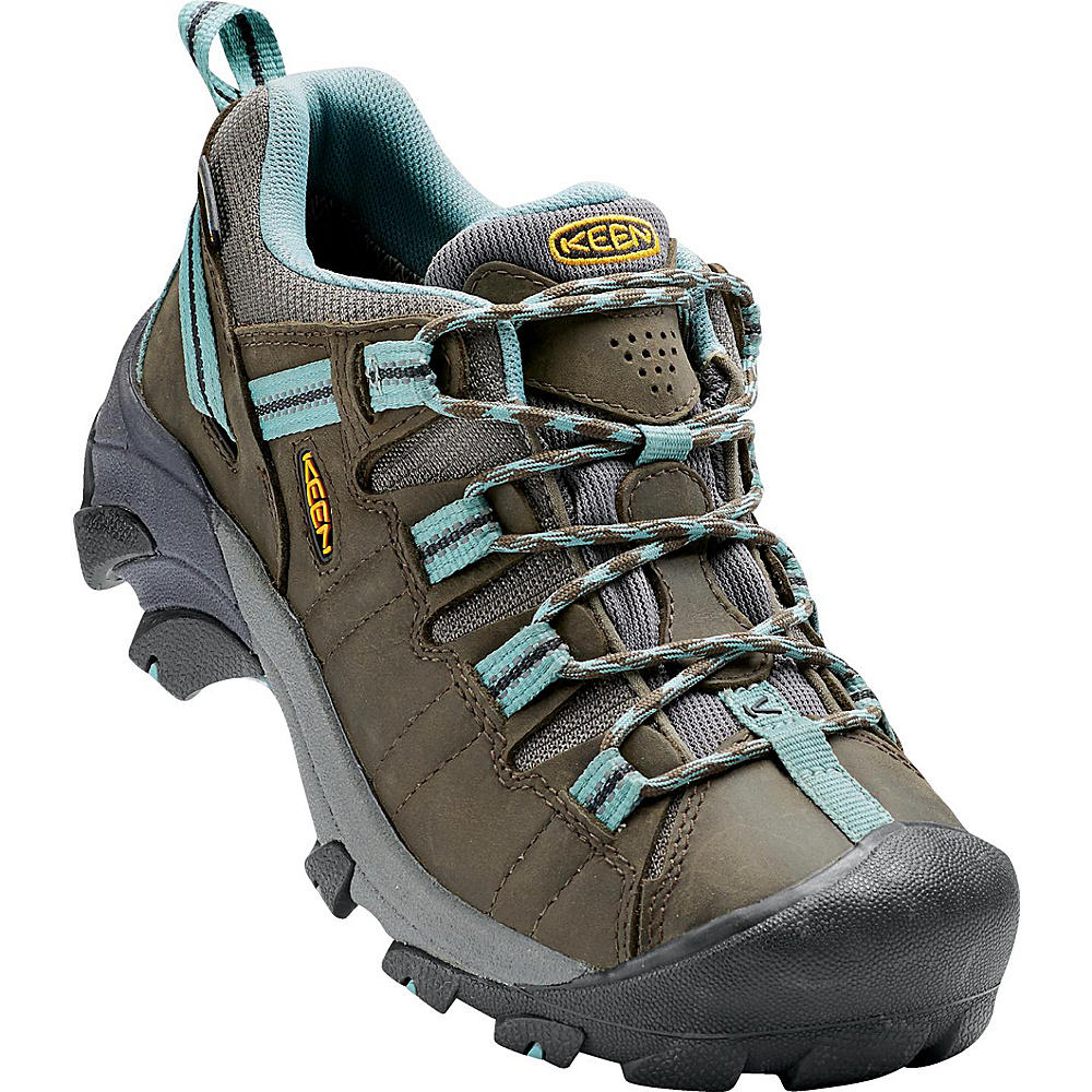 KEEN Womens Targhee II Waterproof Hiking Shoe 6 - Black Olive/Mineral Blue - KEEN Womens Footwear - Apparel & Footwear, Women's Footwear