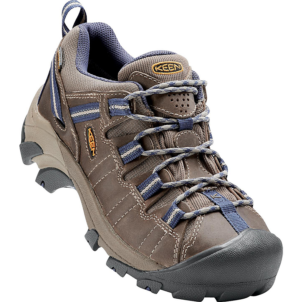 KEEN Womens Targhee II Waterproof Hiking Shoe 9.5 - Goat/Crown Blue - KEEN Womens Footwear - Apparel & Footwear, Women's Footwear