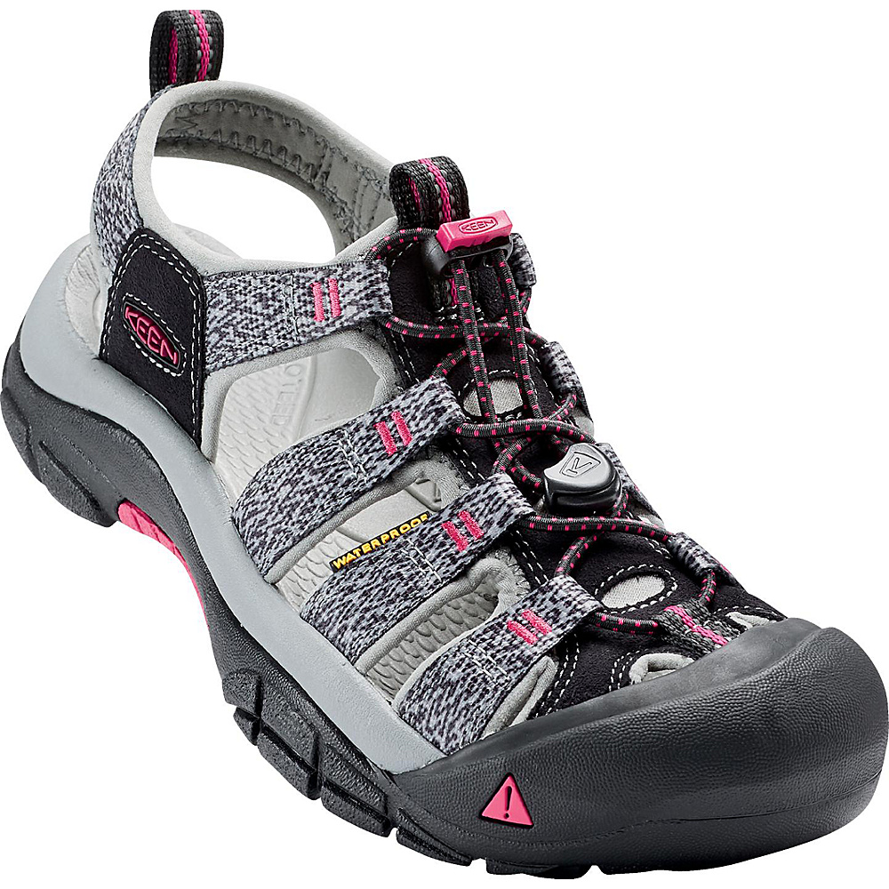 KEEN Womens Newport H2 Sandal 7.5 - Black/Bright Rose - KEEN Womens Footwear - Apparel & Footwear, Women's Footwear