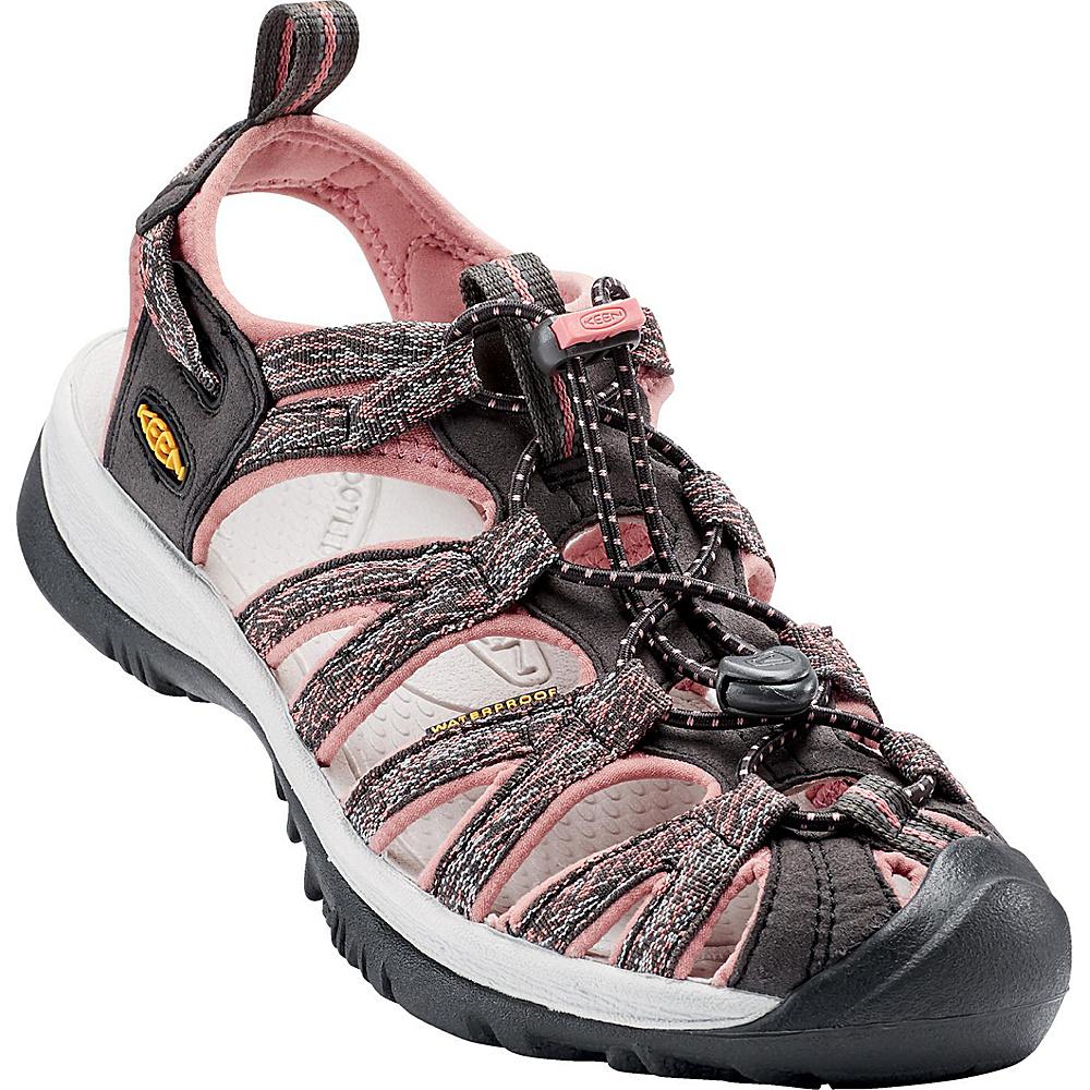 KEEN Womens Whisper Sandal 10 - Raven/Rose Dawn - KEEN Womens Footwear - Apparel & Footwear, Women's Footwear