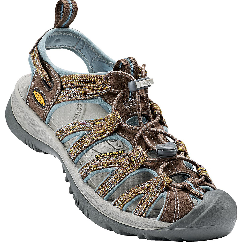 KEEN Womens Whisper Sandal 9.5 - Cascade/Stone Blue - KEEN Womens Footwear - Apparel & Footwear, Women's Footwear