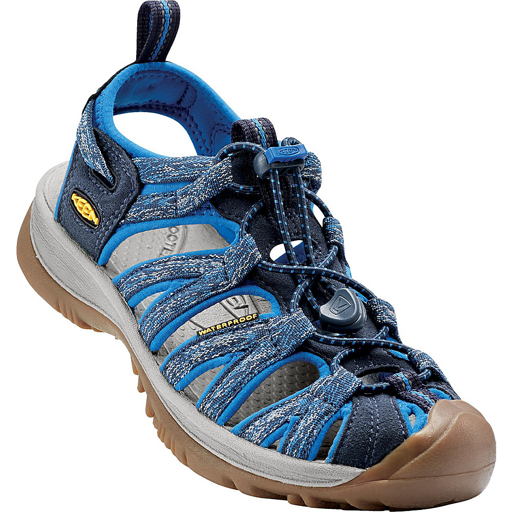 KEEN Womens Whisper Sandal 5.5 - Midnight Navy/French Blue - KEEN Womens Footwear - Apparel & Footwear, Women's Footwear