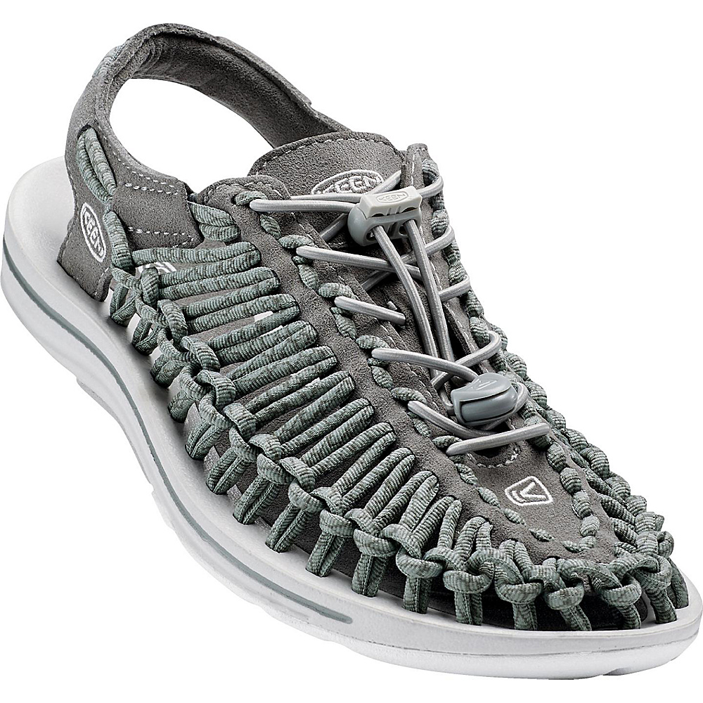 KEEN Womens UNEEK Round Cord Sandal 9 - Neutral Gray/Gargoyle - KEEN Womens Footwear - Apparel & Footwear, Women's Footwear
