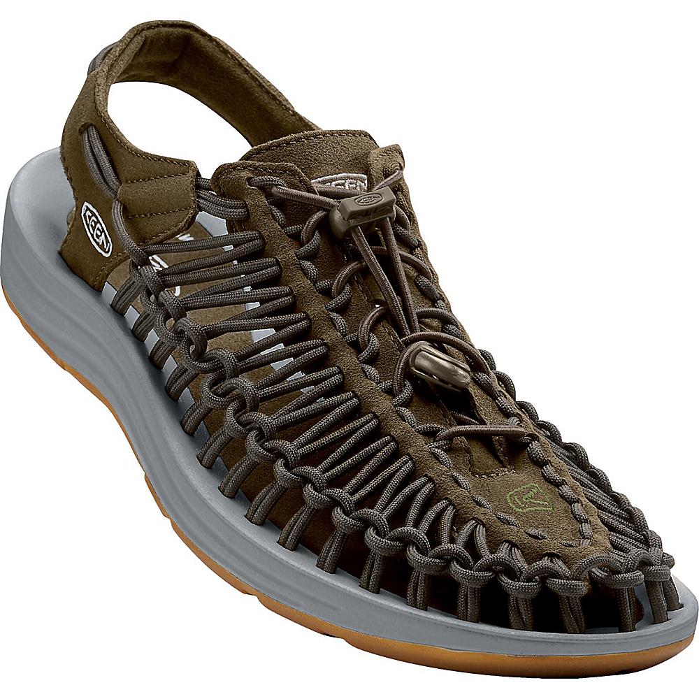 KEEN Womens UNEEK Round Cord Sandal 6.5 - Dark Olive/Neutral Gray - KEEN Womens Footwear - Apparel & Footwear, Women's Footwear