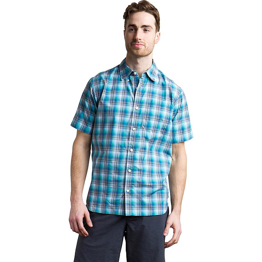 ExOfficio Mens Sol Cool Leman Plaid Short Sleeve Shirt XL - Deep Water - ExOfficio Mens Apparel - Apparel & Footwear, Men's Apparel