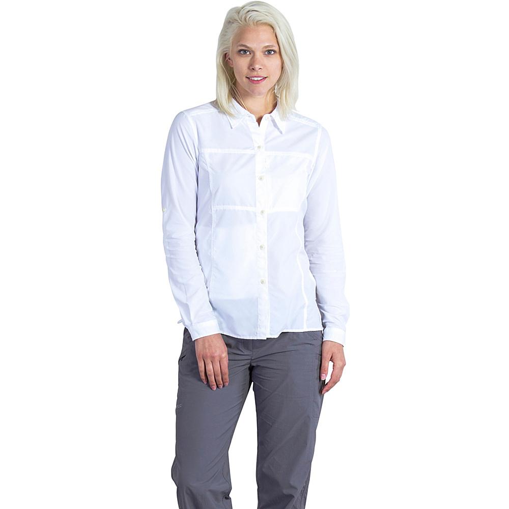 ExOfficio Womens Lightscape Long Sleeve Shirt XS - White - ExOfficio Womens Apparel - Apparel & Footwear, Women's Apparel