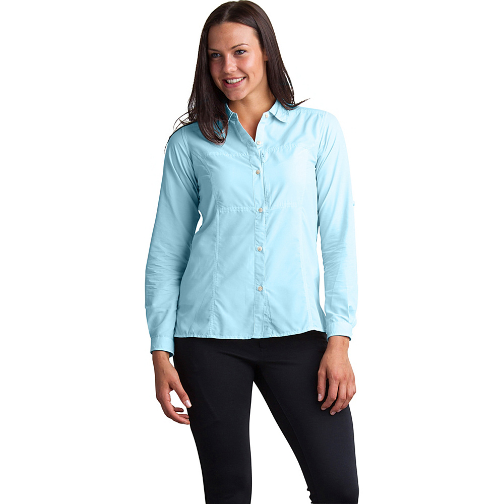ExOfficio Womens Lightscape Long Sleeve Shirt S - Tourmaline - ExOfficio Womens Apparel - Apparel & Footwear, Women's Apparel