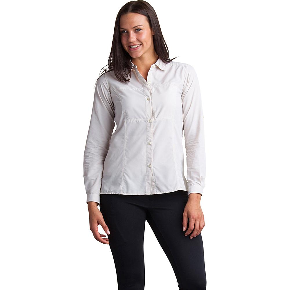 ExOfficio Womens Lightscape Long Sleeve Shirt XS - Malt - ExOfficio Womens Apparel - Apparel & Footwear, Women's Apparel
