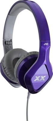 JVC Elation XX Headphones with Mic/Remote Purple - JVC Headphones & Speakers