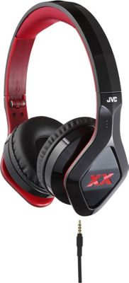 JVC Elation XX Headphones with Mic/Remote Black and Red - JVC Headphones & Speakers