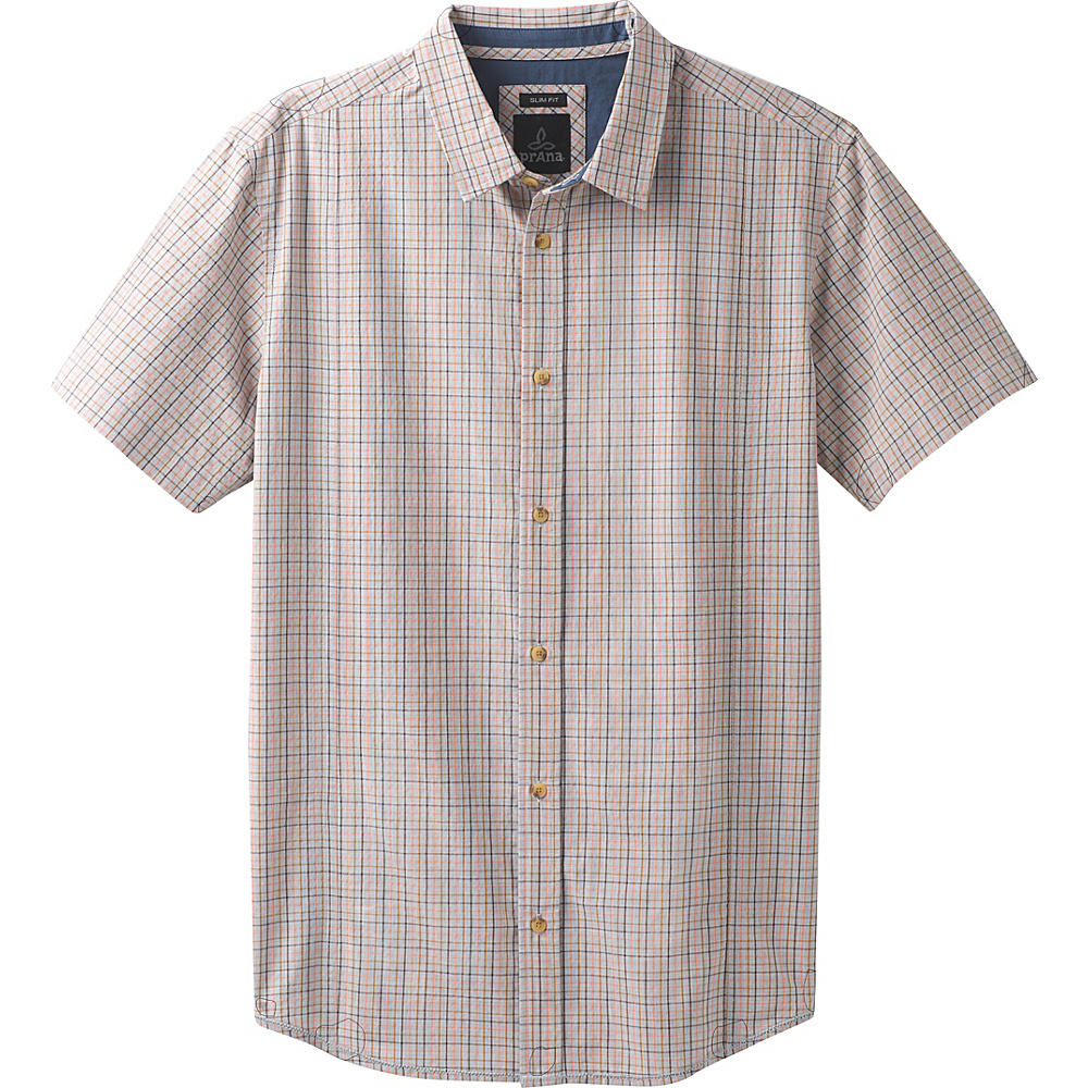 PrAna Lukas Slim Shirt M - Georgia Peach - PrAna Mens Apparel - Apparel & Footwear, Men's Apparel