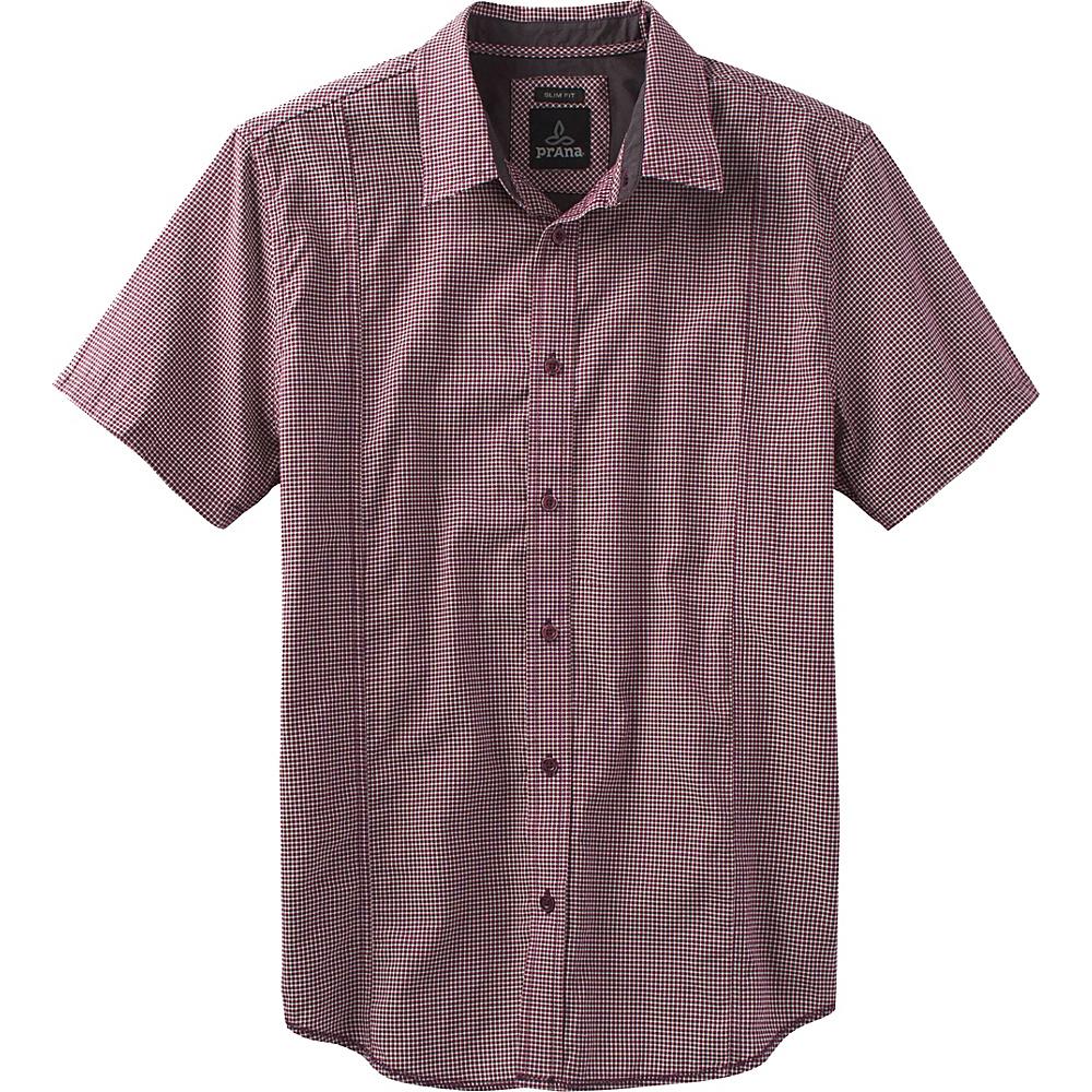 PrAna Lukas Slim Shirt L - Eggplant - PrAna Mens Apparel - Apparel & Footwear, Men's Apparel