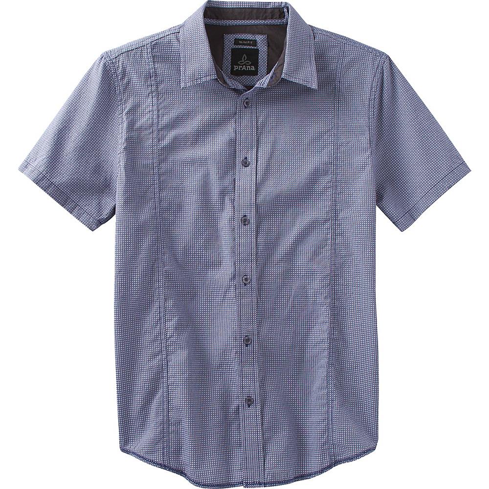 PrAna Lukas Slim Shirt L - Indigo - PrAna Mens Apparel - Apparel & Footwear, Men's Apparel