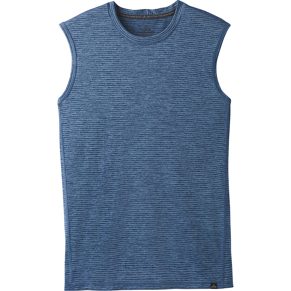 PrAna Hardesty Sleeveless Tank XS - Sunbleached Blue Stripe - PrAna Mens Apparel - Apparel & Footwear, Men's Apparel
