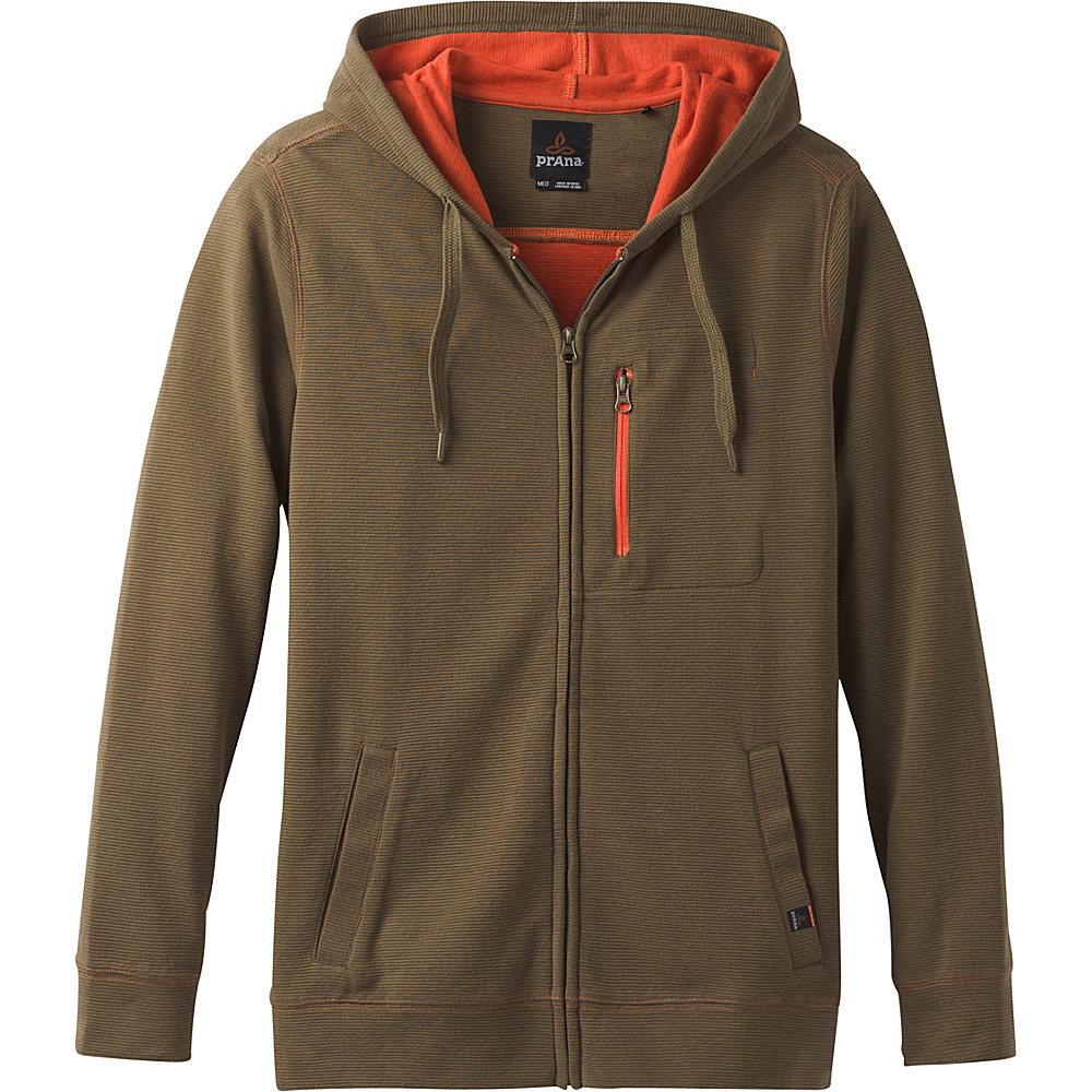 PrAna Wes Full Zip Hoodie L - Cargo Green - PrAna Mens Apparel - Apparel & Footwear, Men's Apparel