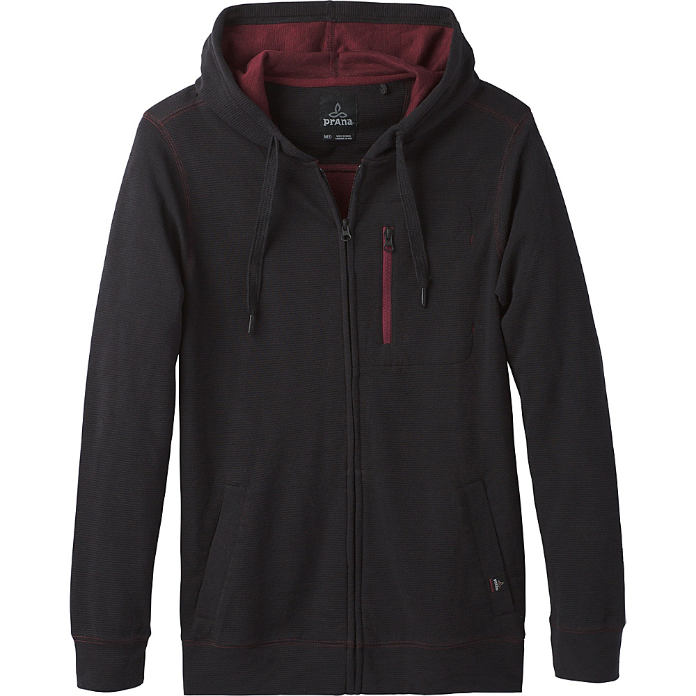 PrAna Wes Full Zip Hoodie L - Black - PrAna Mens Apparel - Apparel & Footwear, Men's Apparel