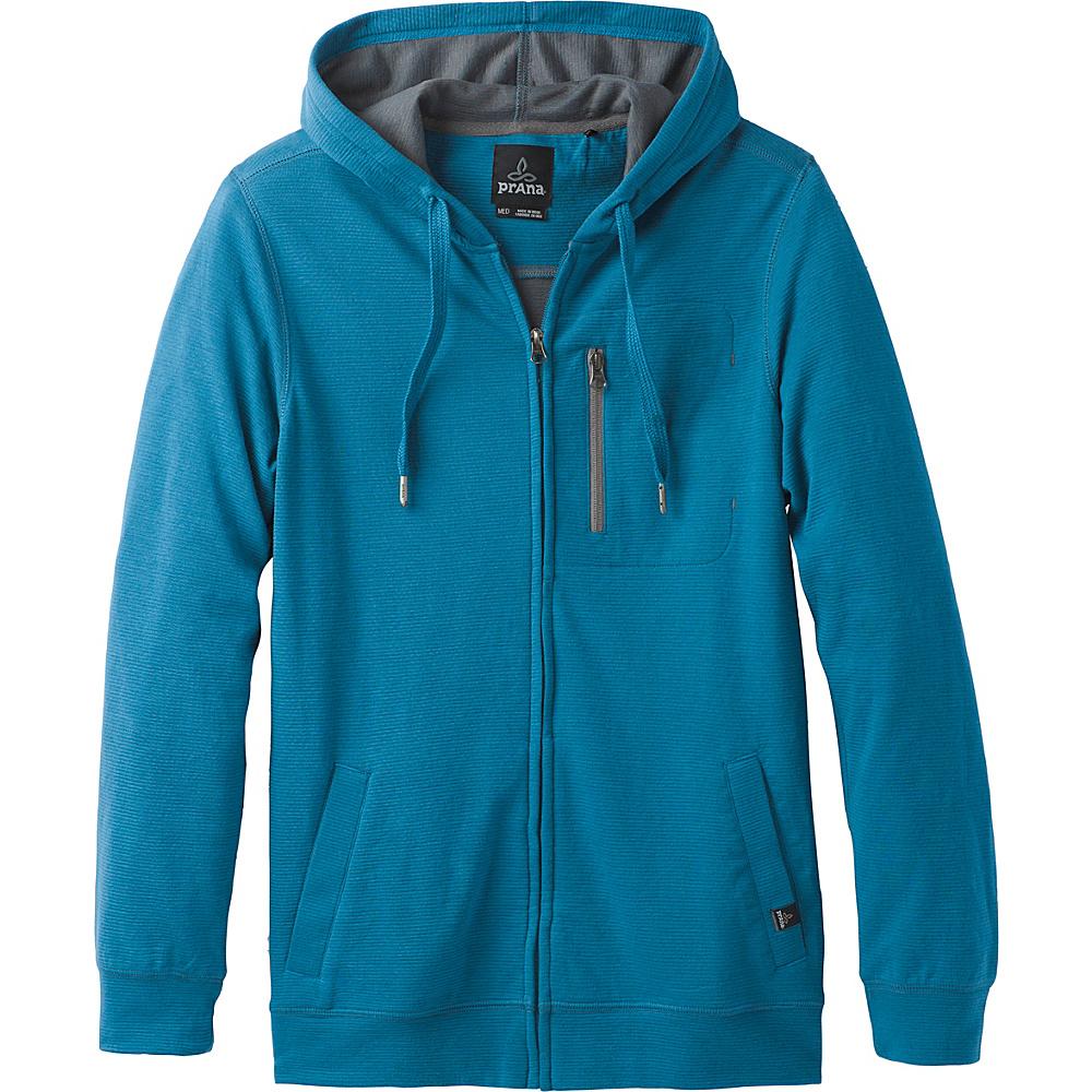 PrAna Wes Full Zip Hoodie S - River Rock Blue - PrAna Mens Apparel - Apparel & Footwear, Men's Apparel