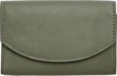 Skagen Leather Flap Card Case Agave - Skagen Designer Handbags