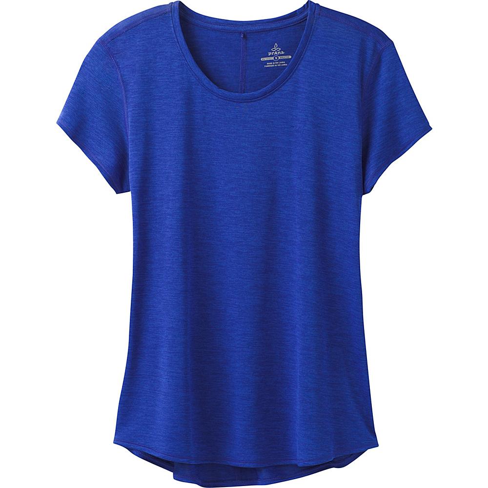 PrAna Revere Short Sleeve Tee M - Cobalt - PrAna Womens Apparel - Apparel & Footwear, Women's Apparel