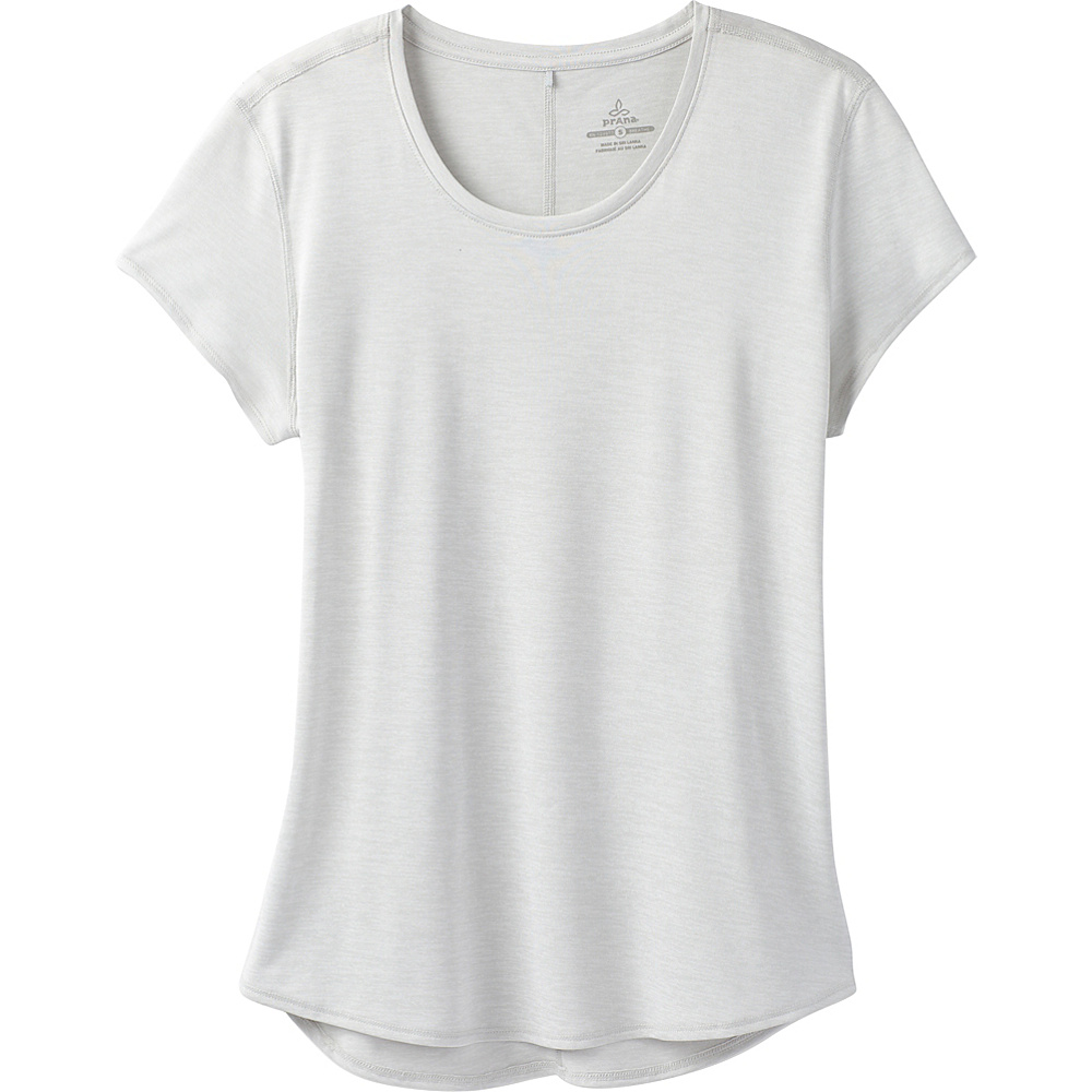 PrAna Revere Short Sleeve Tee M - Silver - PrAna Womens Apparel - Apparel & Footwear, Women's Apparel